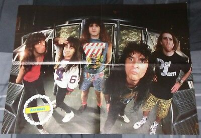 Anthrax / Lizzy Borden / Scott Ian / 1980's 4 Page Magazine Poster Mint+Free Dvd