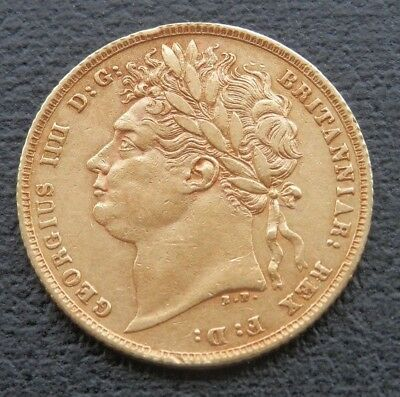 1821 George IV Gold Sovereign - Very Fine - Sp3800