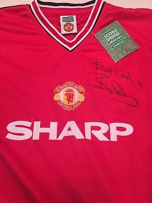 9e956a6a252 Bryan Robson Signed Manchester United 1985 FA Cup Final Shirt Jersey Retro  BNWT