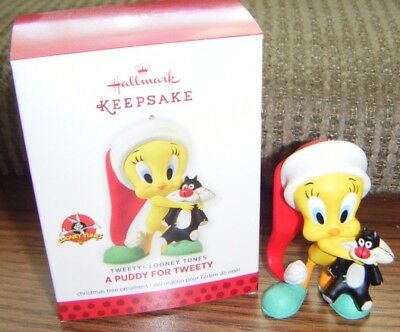 2013 A PUDDY FOR TWEETY ORNAMENT Hallmark Looney Tunes Mint in Box