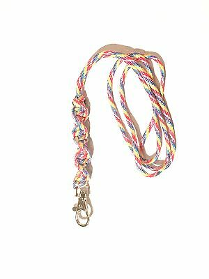 Barley Twist Design Dog Whistle Lanyard In Rainbow - For ACME Whistle