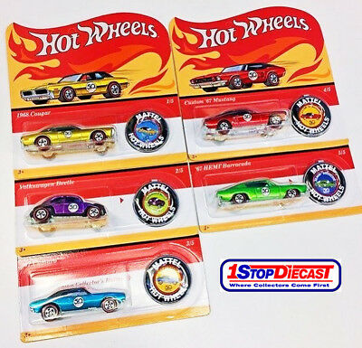 HOT WHEELS 50th ANNIVERSARY ORIGINALS REDLINES COMPLETE SET OF 5 - SHIPPING NOW