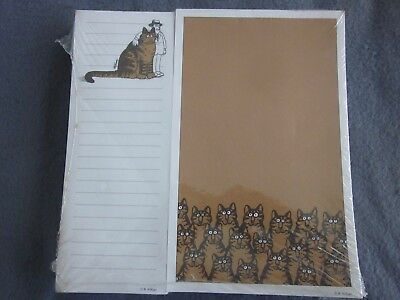 Vintage 70s B Kliban Cats Note Pads 2 Factory Sealed Approx 100 Sheets Per Pad