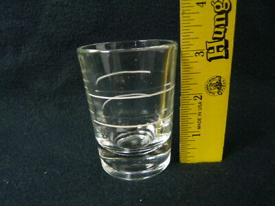 Vintage Shot Glasses Heavy Thick White Fill Line Bar Liquor Glass Lot  7, 3 1/4""