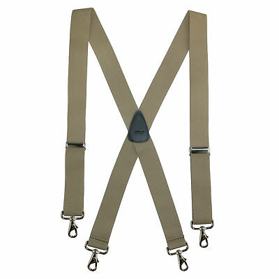 New CTM Men's Elastic Solid Color X-Back Suspender with Swivel Hook Ends