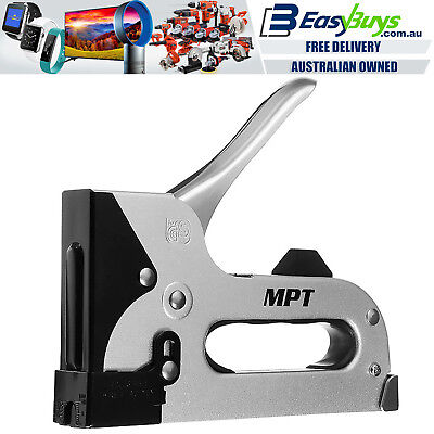 MPT Staple Gun Heavy Duty All Metal T50 Hand Stapler with Staple Kit