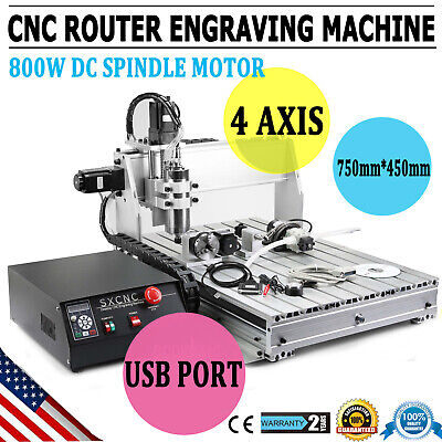 Usb Cnc Router Engraving Machine 4 Axis 6040 Cutter Crafts Carving Ball-Screw