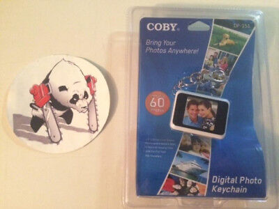 "Coby DP-151 1.5"" LCD Digital Picture Keychain Holds 60 Photos"