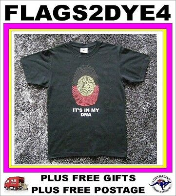 Aboriginal flag styled T Shirt (IN MY DNA) Indigenous child toddler SIZE 2