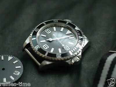 Plain Explorer Watch Dial for Seiko 7S26 Movement 2 Positiions 28.5mm
