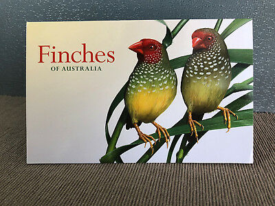 Brand New Mint Condition Finches of Australia 2018 $1 Stamp Set of 4 Folder