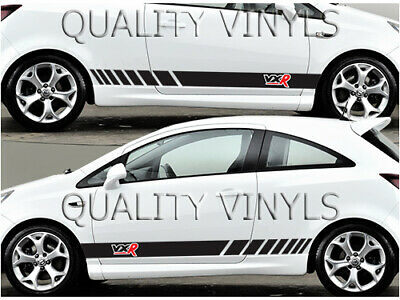 Large Vauxhall Tribal Flames x2 Side Graphics Vinyl Decal Sticker Corsa Astra 49