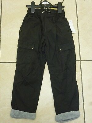 M&Co Boys Kids Cotton Lined Cargo Trousers Pants Age 3-4 Years BNWT Charcoal