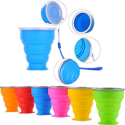 Foldable Water Coffee Folding Tea Camping Mug Silicone Collapsible Cup Travel
