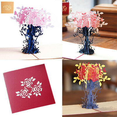 3D Pop Up Cards Lovers Tree Card Lover Happy Birthday Anniversary Greeting Cards