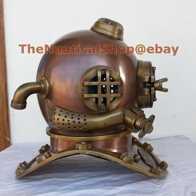 vintage antique  diving helmet U.S Navy mark V deep Sea divers helmet 18""