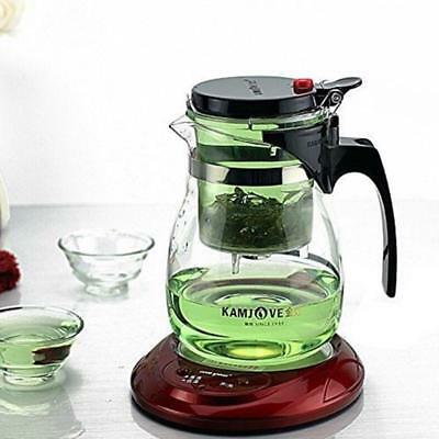 Glass Kungfu Teaset Press Auto-open Art Tea Cup Teapot With Infuser Tp-757 700ml