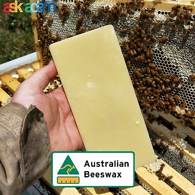 100% Pure Australian Beeswax Organic Bees Wax 100-110 grams - Unlimited uses!