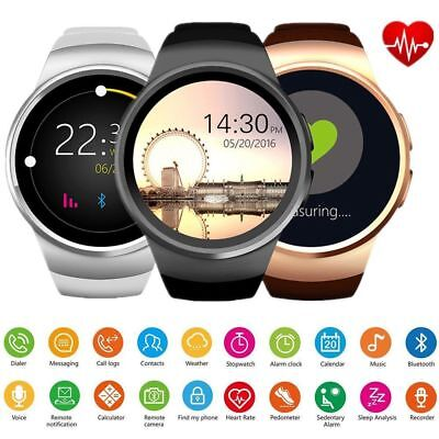 KW18 Smart Watch Waterproof Bluetooth Sim Phone Mate For Android iPhone Samsung