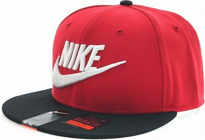 5ee6936f NIKE FUTURA TRUE 2 SNAPBACK CAP Red-Black embroidery logo hip hop hat NEW