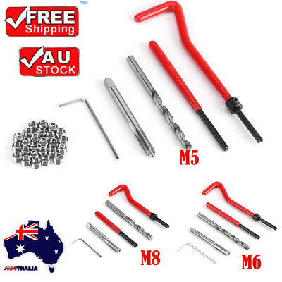 30X Helicoil Restoring Thread Repair Insert Drill Tool Tap for Automotive Repair