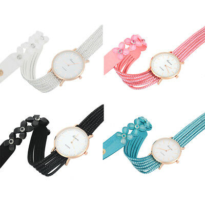 Fashion Womens Ladies Watch Stainless Steel Leather Bracelet Wrist Watches