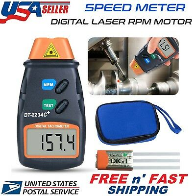 Handheld Digital Photo Laser Tachometer Non Contact Tach Tool RPM Tester New USA