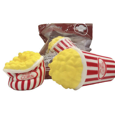 USA Soft Jumbo Colossal Squishy Popcorn Scented Super Slow Rising Food Kid US