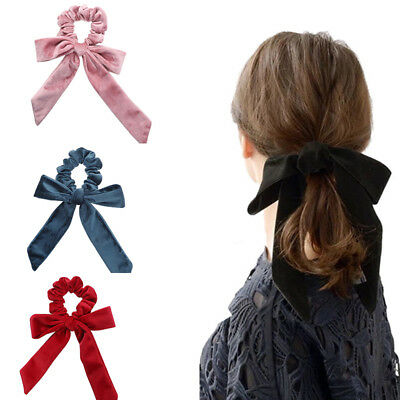 Fashion Girls Big Bow Velvet Elastic Hair Ropes Scrunchies Hair Ties Head Band
