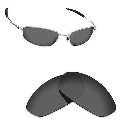 Hawkry Polarized Replacement Lenses for-Oakley Whisker Sunglass -Sport Black