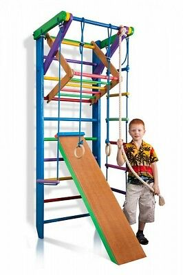Kids Wall Bars Sport Gymnastic  Swedish Ladder Children Home Baby Play Gym Wood