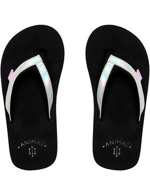 3cf36f97ef2937 ANIMAL SWISH GLITZ Girls Kids Junior Flip Flops