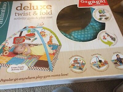 Infantino Go GaGa Deluxe Twist and Fold Activity Gym Play Mat Multi Color