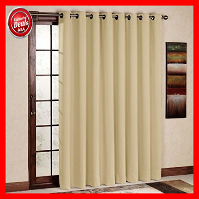 Rhf Wide Thermal Blackout Patio Door Curtain Panel Sliding Insulated