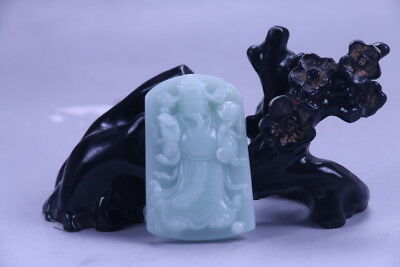 Exquisite Chinese hand carving 100% natural  jade  Pendant