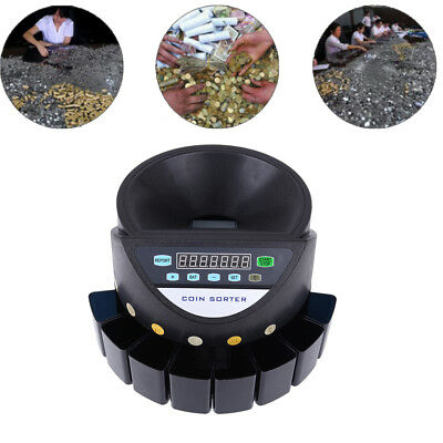 Electronic Digital LCD Coin Counter Sorter Automatic Money Counting Machine