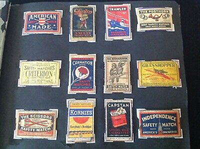 Vintage Matchbox Label Album -206 Labels