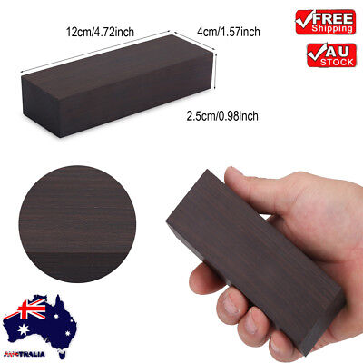 12*4*2.5cm Ebony Wood Lumber Blank DIY Material For Music Instruments Tools AU