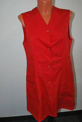 Leiber Clean Dress Kasack Kittel Kleid rot ärmellos S 38 NEU