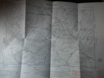 "Kingsdown-Wrotham Hill: North Downs Kent 1862-1959- 6"" Land Tax Used Plan"