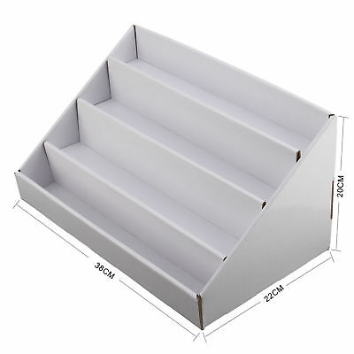 4 tier white collapsible cardboard greeting card display stand 4 tier white collapsible cardboard greeting card display stand counter stand m4hsunfo