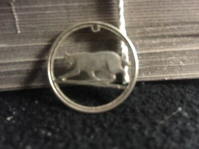 Cut Out Coin Canada Silver Quarter mountain lion hobo nickel art