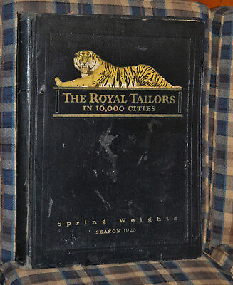 1923 Antique THE ROYAL TAILORS Merchant Clothing Fabric Catalog Sample Book