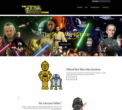 Fully stocked STAR WARS Business - Upto £149 per sale, FREE DOMAIN / HOSTING