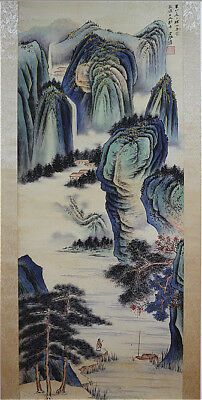 Excellent Chinese Hanging Painting & Scroll Landscape By Zhang Daqian 张大千 HAWD68