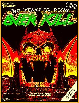 OVERKILL Years of Decay Songbook Guitar Tablature Voices Noten Lyric Photo