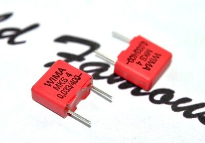 10pcs 0,033µF 33nF 630V 5/% pitch:7.5mm Capacitor WIMA MKS4 0.033uF