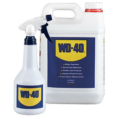 WD40 44506 Can with Applicator Spray Bottle 5L Clean Protect Loosen stop squeaks