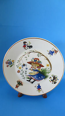 Arklow Pottery Ireland Nursery Rhymes Little Miss Muffet Plate