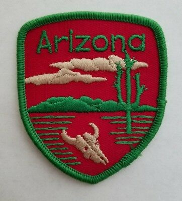 Vintage ARIZONA State Souvenir Travel Patch Iron On Embroidered From USA